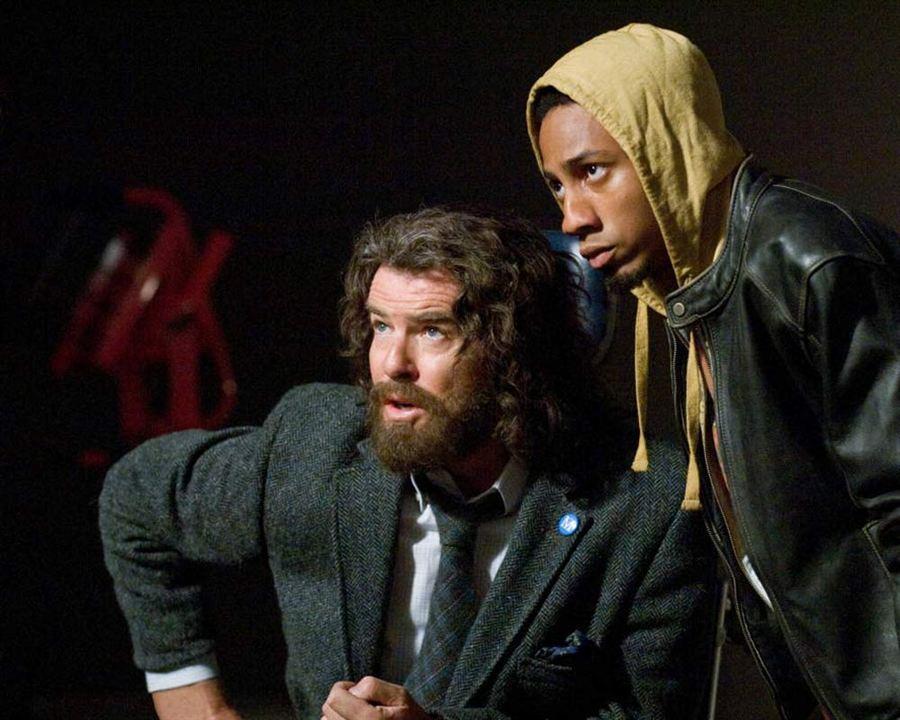 Percy Jackson : le voleur de foudre : Photo Brandon T. Jackson, Pierce Brosnan