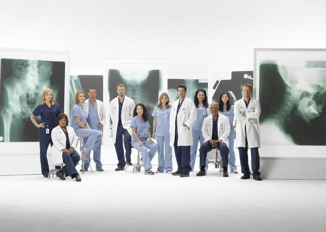 Grey's Anatomy : Photo Chandra Wilson, Chyler Leigh, Ellen Pompeo, Eric Dane, James Pickens Jr.