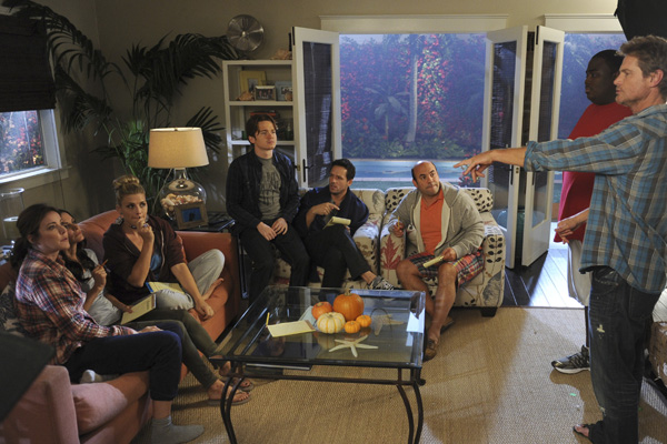 Cougar Town : Photo Brian Van Holt, Christa Miller-Lawrence, Courteney Cox, Dan Byrd, Ian Gomez