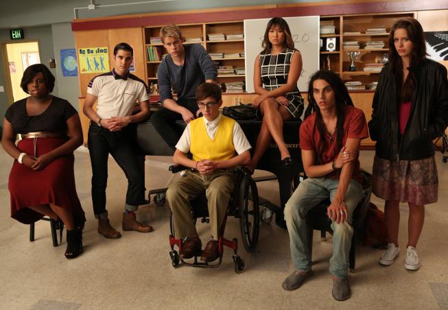 Glee : Photo Alex Newell, Chord Overstreet, Darren Criss