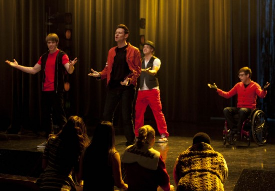 Photo Blake Jenner, Chord Overstreet, Cory Monteith, Kevin McHale