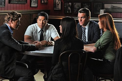 Photo Amanda Righetti, Owain Yeoman, Robin Tunney, Simon Baker, Tim Kang