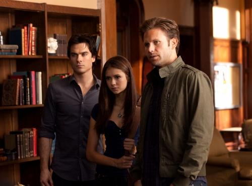 Vampire Diaries : Photo Ian Somerhalder, Matthew Davis, Nina Dobrev