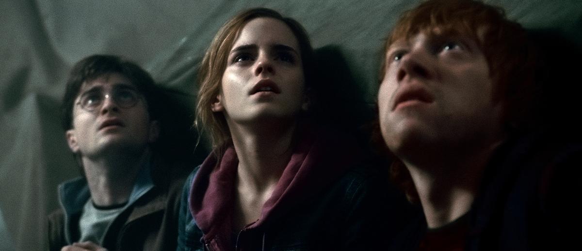 Harry Potter et les reliques de la mort - partie 2 : Photo Daniel Radcliffe, Emma Watson, Rupert Grint
