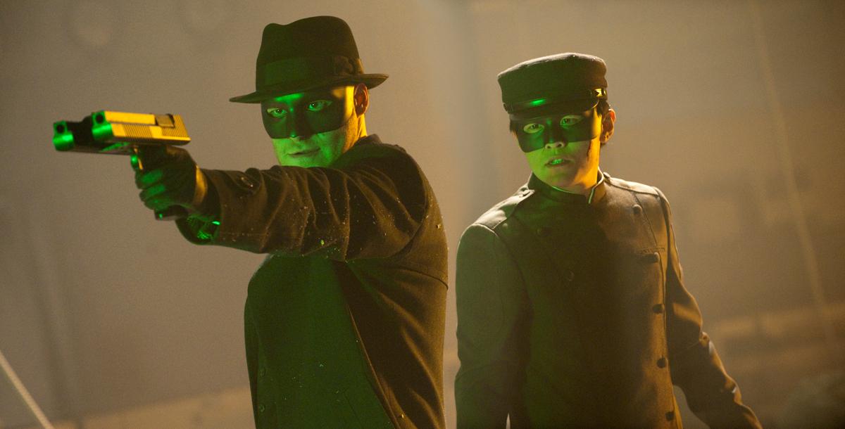 The Green Hornet : Photo Jay Chou, Michel Gondry, Seth Rogen