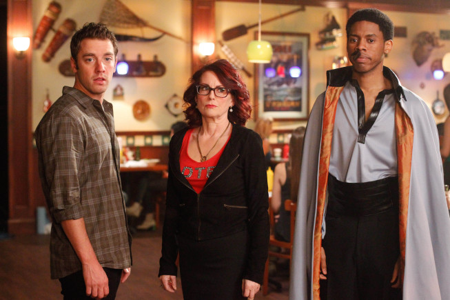 Photo Alphonso McAuley, Bret Harrison, Megan Mullally