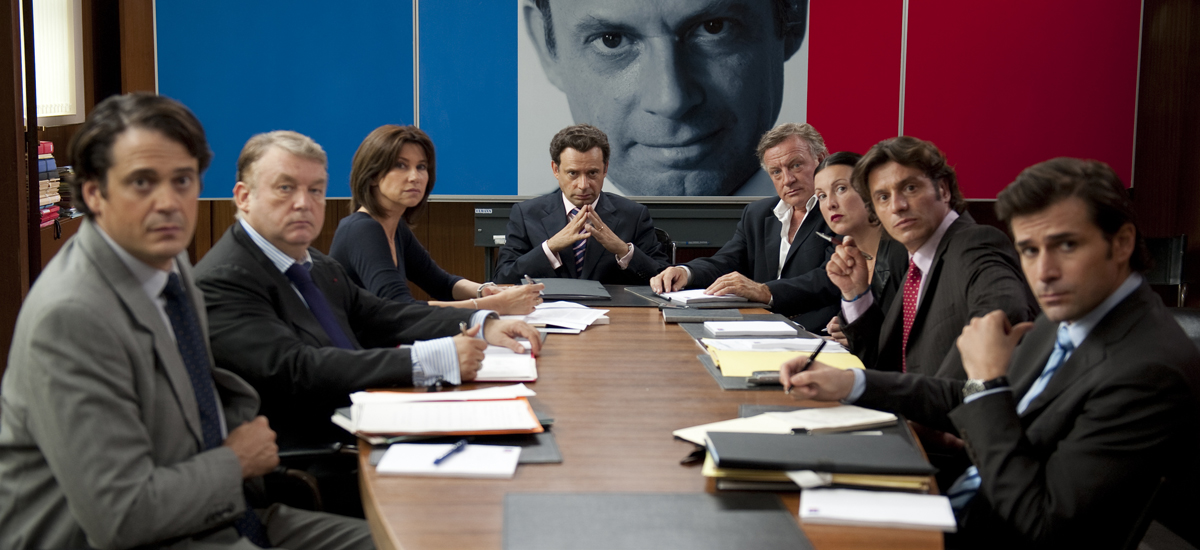 La Conquête : Photo Denis Podalydès, Dominique Besnehard, Florence Pernel, Grégory Fitoussi, Mathias Mlekuz