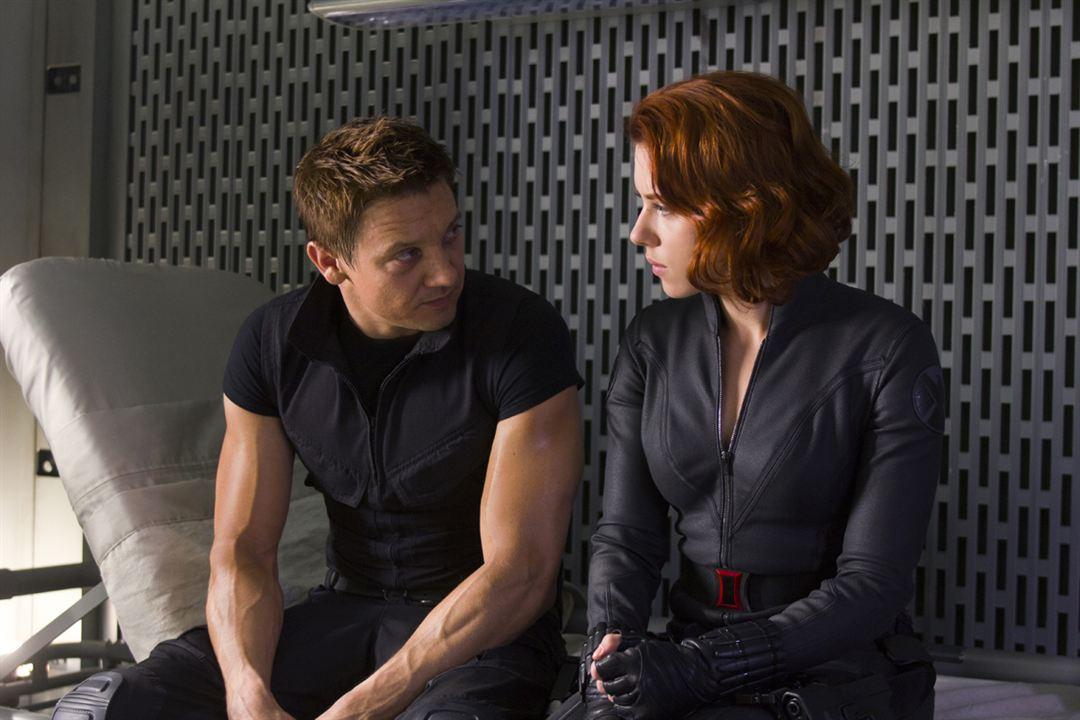Avengers : Photo Jeremy Renner, Scarlett Johansson