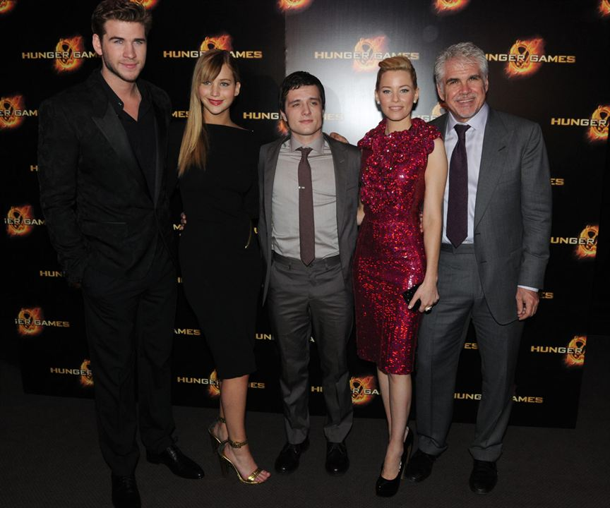 Hunger Games : Photo Elizabeth Banks, Gary Ross, Jennifer Lawrence, Josh Hutcherson, Liam Hemsworth