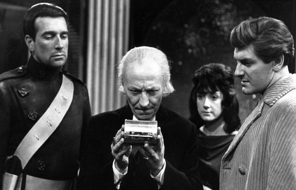 Photo Adrienne Hill, Nicholas Courtney, Peter Purves, William Hartnell