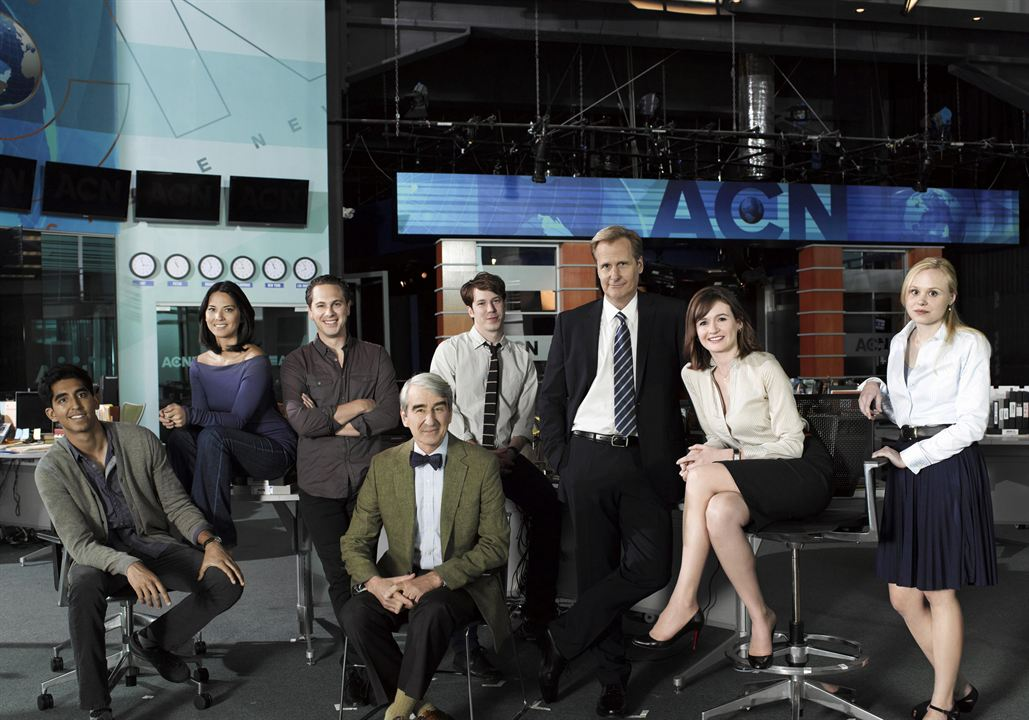 Photo Alison Pill, Dev Patel, Emily Mortimer, Jeff Daniels, John Gallagher Jr.