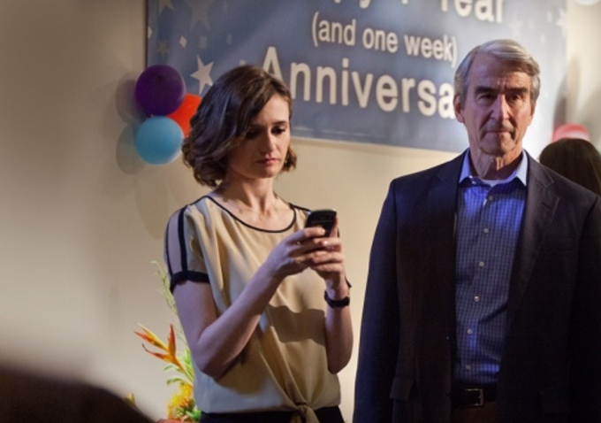 Photo Emily Mortimer, Sam Waterston