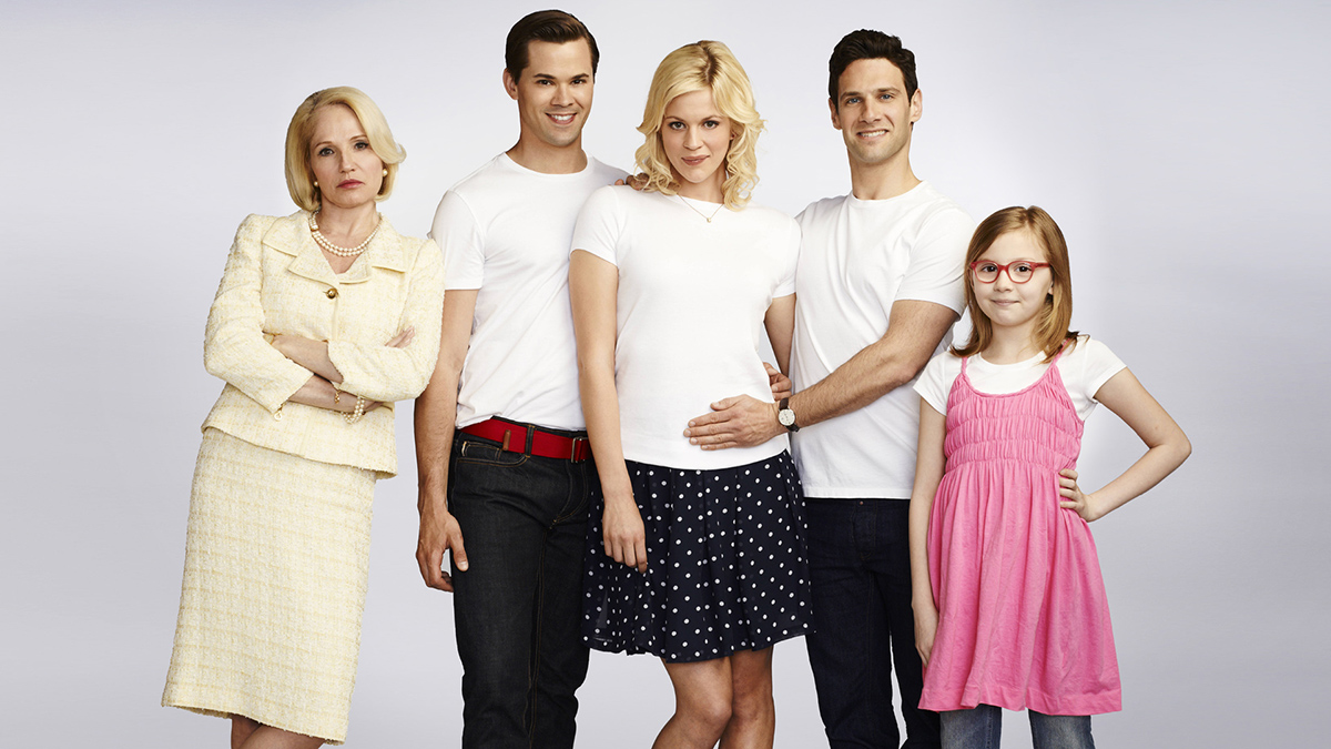 Photo Andrew Rannells, Bebe Wood, Ellen Barkin, Georgia King, Justin Bartha