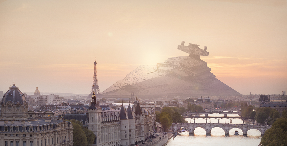 Star Wars Et Si Les Vaisseaux Se Crashaient Dans Paris