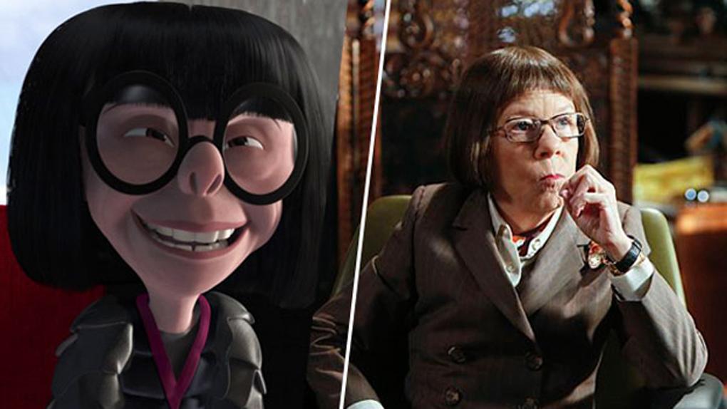 Edna Mode (Les Indestructibles), inspirée par Linda Hunt