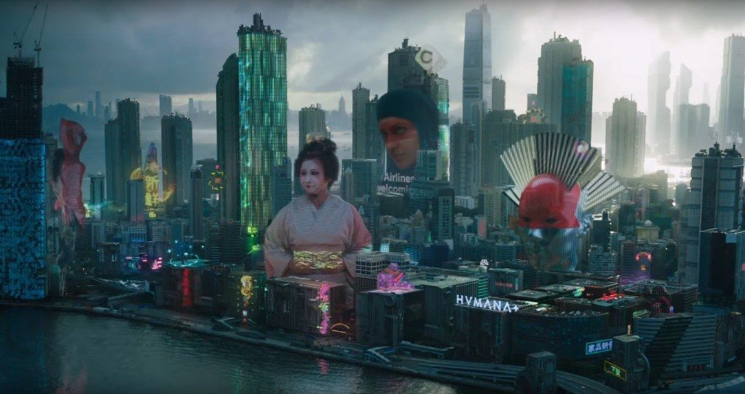 """Newport City dans """"Ghost in the Shell"""" (2017)"""