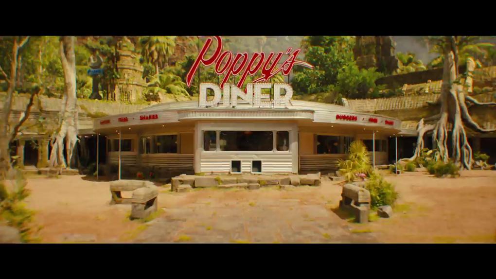 Le Poppy Diner vu de l'extérieur