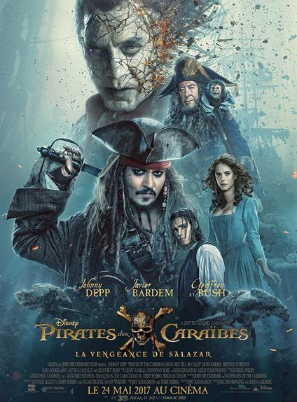 N°5 - Pirates des Caraïbes : la Vengeance de Salazar : 205 497 entrées