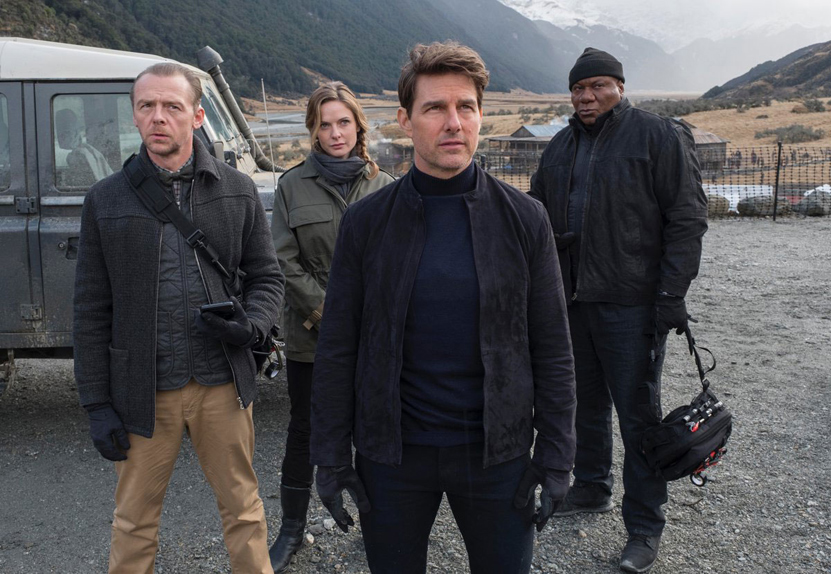 Simon Pegg, Rebecca Ferguson, Tom Cruise, Ving Rhames : la Team Ethan Hunt au complet