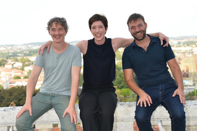Swann Arlaud, Sara Giraudeau et Hubert Charuel