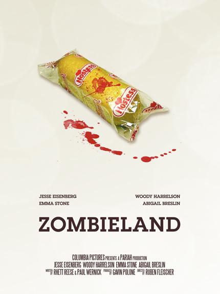 Bienvenue à Zombieland - Affiche réalisée par Vincent Gabriele