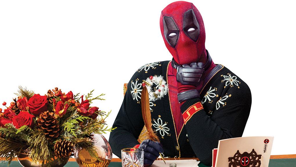 Deadpool sort la dinde et le sapin de Noël pour la promo