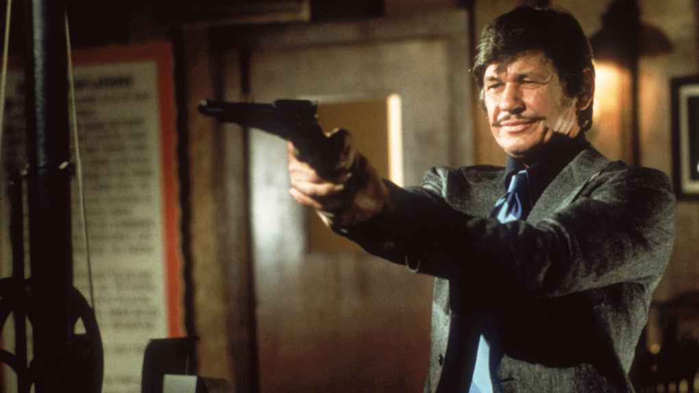 "Charles Bronson, alias Paul Kersey dans ""Un Justicier dans la ville"" (1974)"