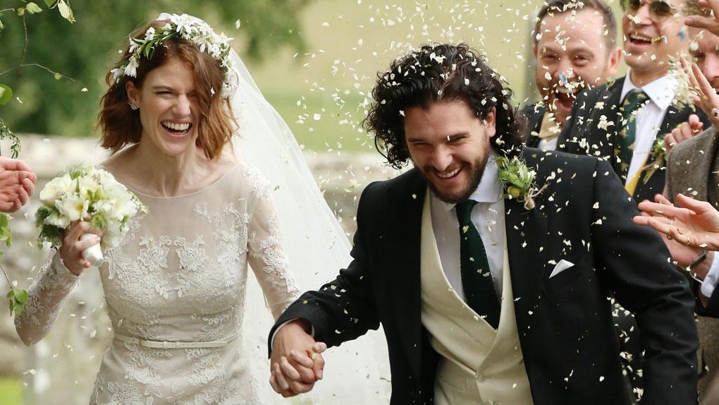 Rose Leslie et Kit Harington se sont mariés [Photos]