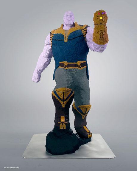 Un Thanos grandeur nature entièrement conçu en LEGO