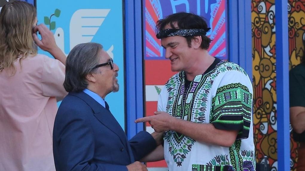 Al Pacino et Quentin Tarantino en plein travail