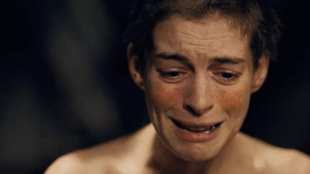 """Anna Hataway dans """"Les Misérables"""""""