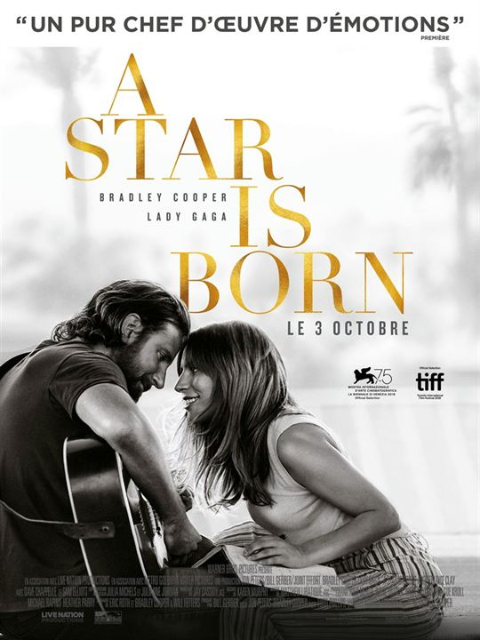 A STAR IS BORN - 5 nominations