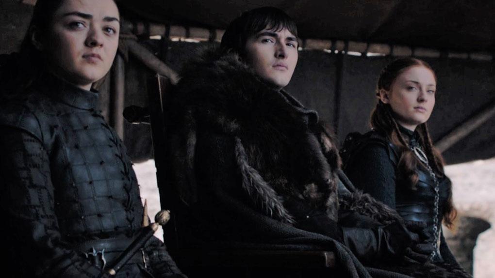 Arya, Bran et Sansa Stark
