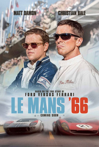 Le Mans 66 avec Matt Damon, Christian Bale, Jon Bernthal...