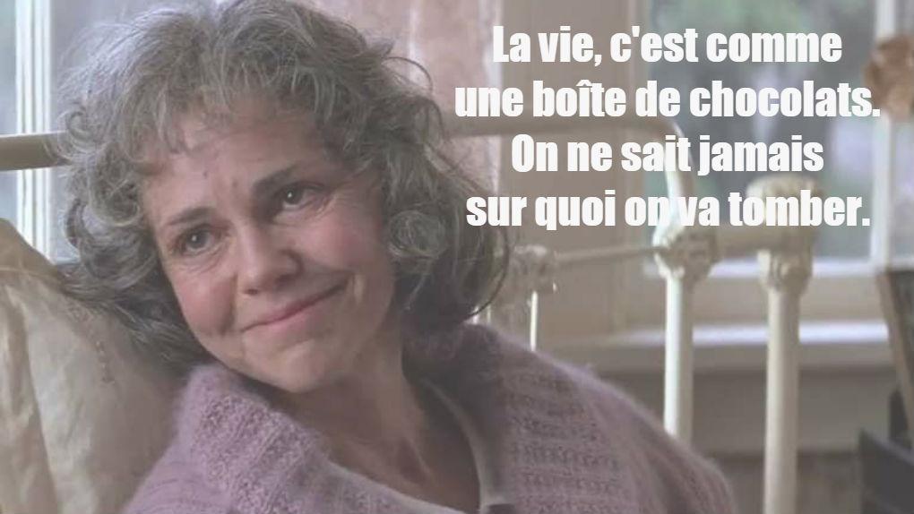 """La maman de Forrest dans """"Forrest Gump""""..."""