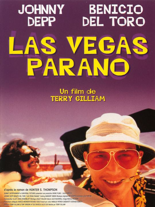 Las Vegas parano : Affiche Johnny Depp, Terry Gilliam