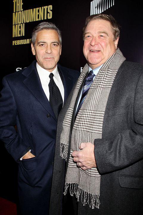 Monuments Men : Photo promotionnelle George Clooney, John Goodman