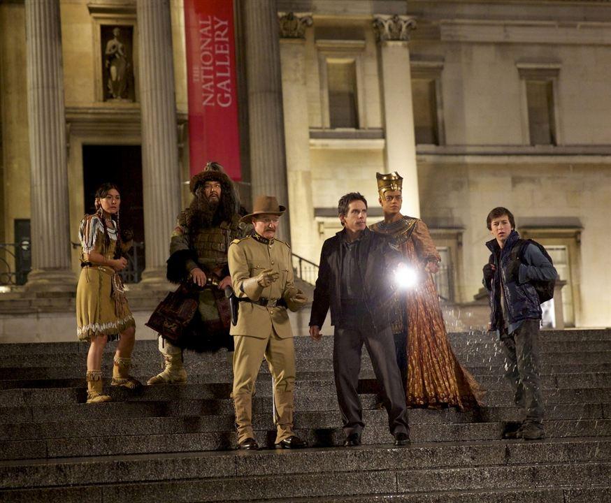 La Nuit au musée : Le Secret des Pharaons : Photo Ben Stiller, Mizuo Peck, Patrick Gallagher, Rami Malek, Robin Williams
