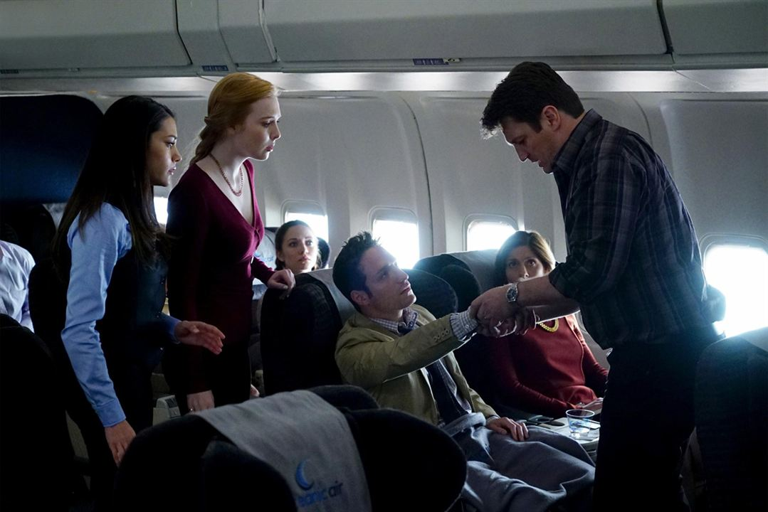 Photo Ben D. Goldberg, Inbar Lavi, Molly C. Quinn, Nathan Fillion, Reamy Hall