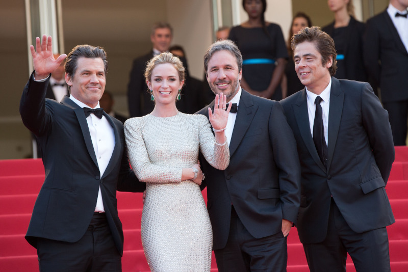 Sicario : Photo promotionnelle Benicio Del Toro, Denis Villeneuve, Emily Blunt, Josh Brolin