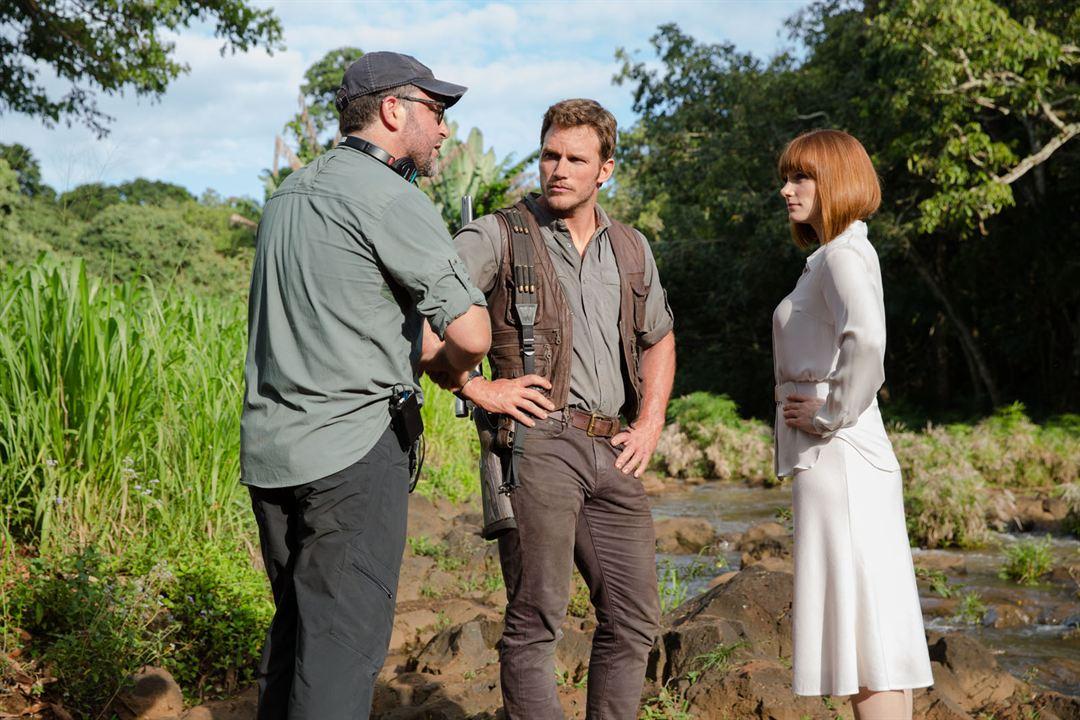 Jurassic World : Photo Bryce Dallas Howard, Chris Pratt, Colin Trevorrow