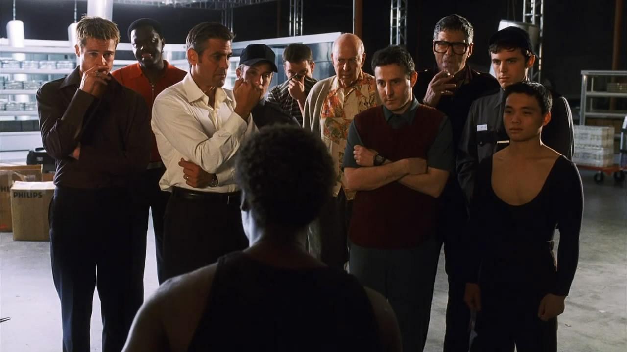 Ocean's Eleven : Photo Bernie Mac, Brad Pitt, Casey Affleck, Elliott Gould, George Clooney