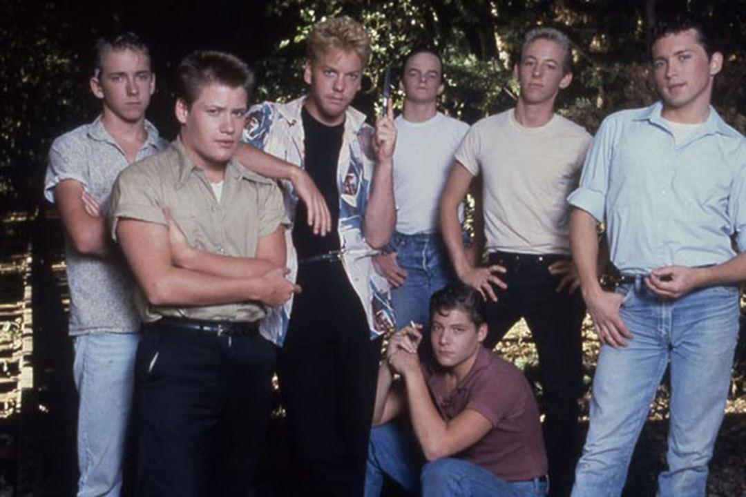 Stand by Me : Photo Casey Siemaszko, Corey Feldman, Jerry O'Connell, Kiefer Sutherland, River Phoenix