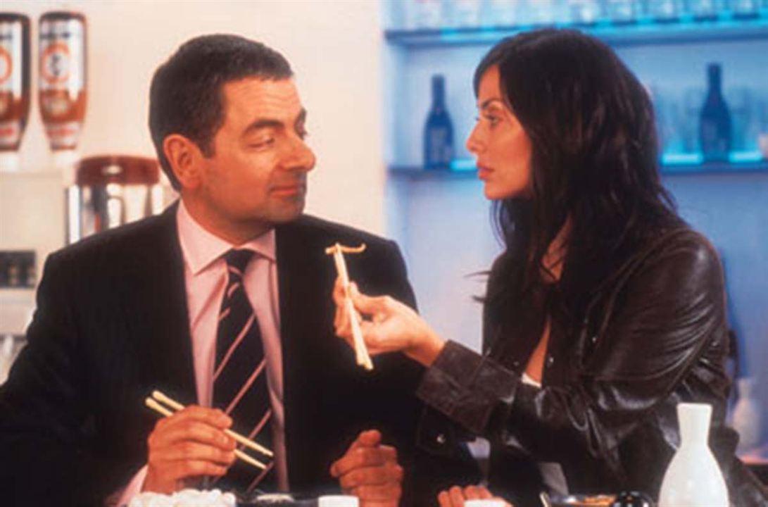 Johnny English : Photo Natalie Imbruglia, Rowan Atkinson