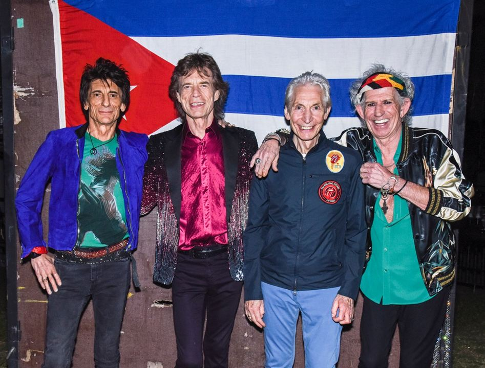 The Rolling Stones in Cuba - Havana Moon : Photo Charlie Watts, Keith Richards, Mick Jagger, Ronnie Wood, The Rolling Stones