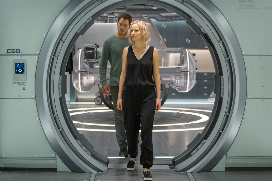 Passengers : Photo Chris Pratt, Jennifer Lawrence