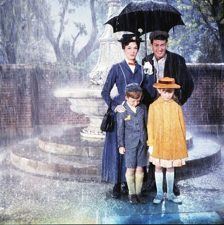 Mary Poppins : Photo Dick Van Dyke, Julie Andrews, Karen Dotrice, Matthew Garber