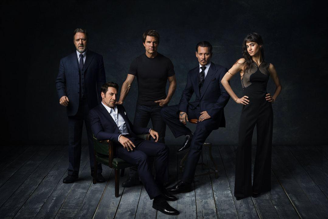 La Fiancée de Frankenstein : Photo promotionnelle Javier Bardem, Johnny Depp, Russell Crowe, Sofia Boutella, Tom Cruise