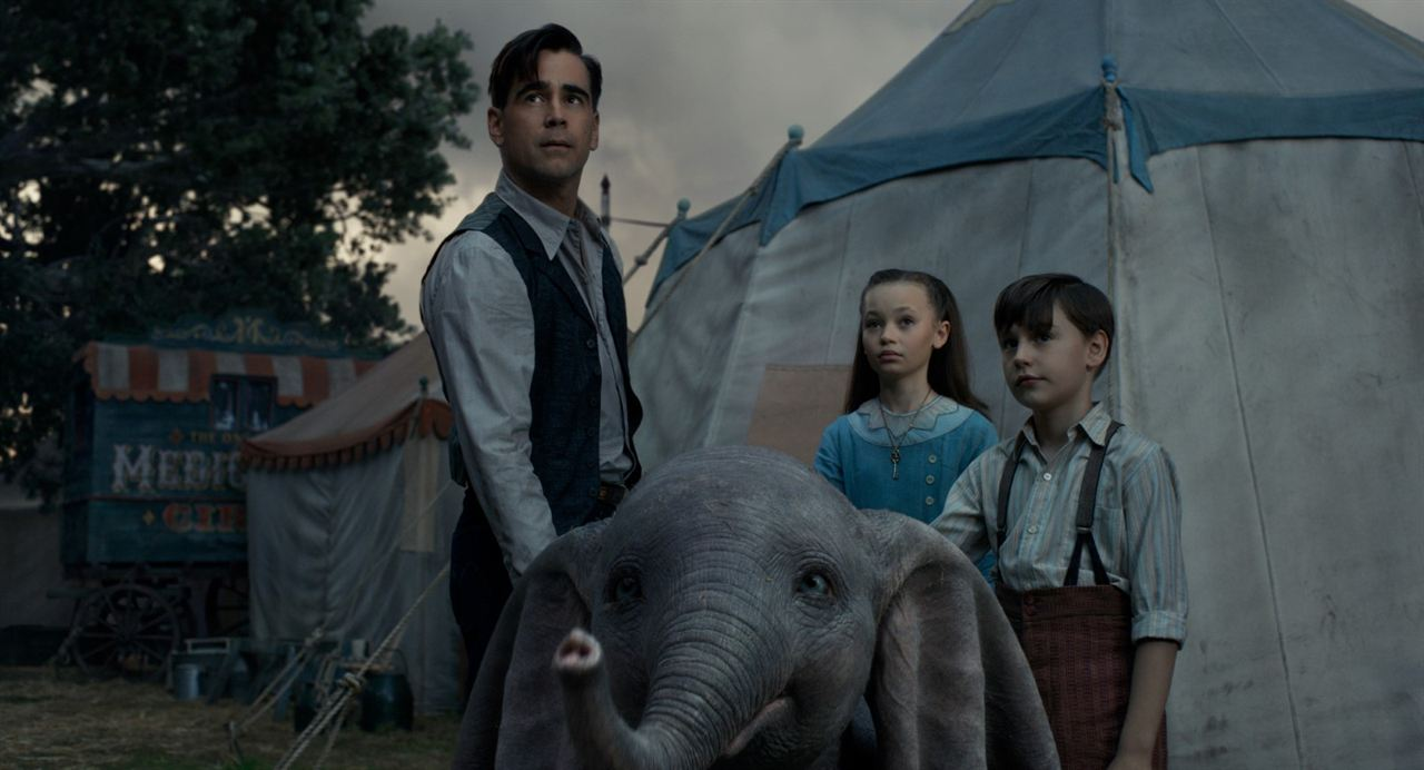 Dumbo : Photo Colin Farrell, Finley Hobbins, Nico Parker