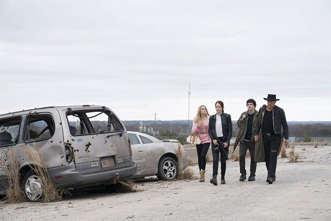 Retour à Zombieland : Photo Emma Stone, Jesse Eisenberg, Woody Harrelson, Zoey Deutch